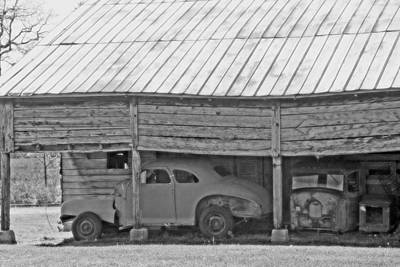 Country Scene Photograph - Barn Finds by Michael Allen