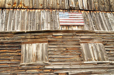 Photograph - Barn Flag by David Seguin
