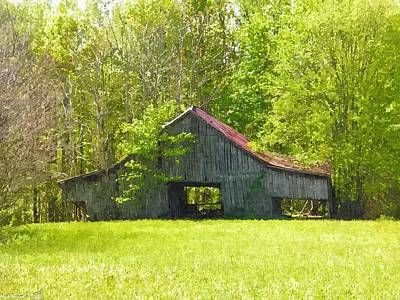 Forgotten Photograph - Barn From The Forgotten Farm by Nick Kirby
