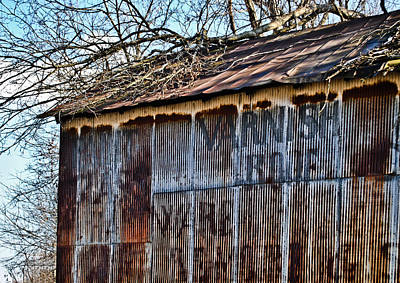 Barn Ghost Sign 1 Art Print