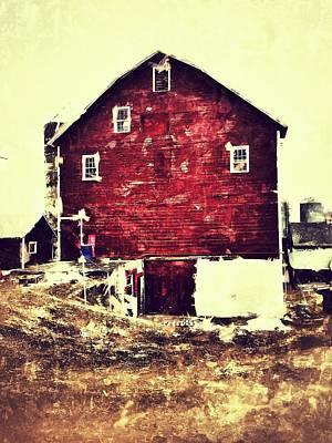 Rural Life Photograph - Barn by H James Hoff