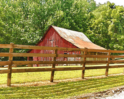 Barn In A Fence Art Print
