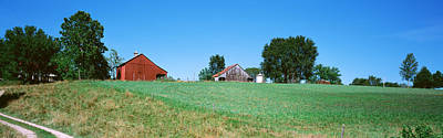Dirt Roads Photograph - Barn In A Field, Missouri, Usa by Panoramic Images