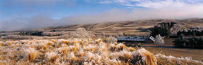 Barn In A Field, Morven Hills Station Art Print by Panoramic Images
