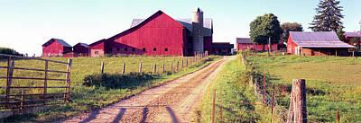 Barn In A Field, Pennsylvania Dutch Art Print