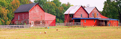 Barn In A Field, Route 34, Colts Neck Art Print