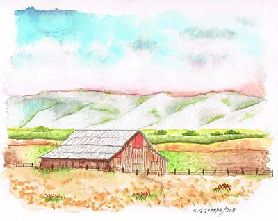 Cambria Painting - Barn In Cambria - California by Carlos G Groppa