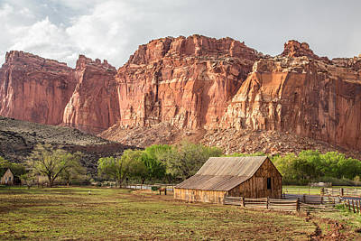 Photograph - Barn In Capitol Reef National Park by Pierre Leclerc Photography