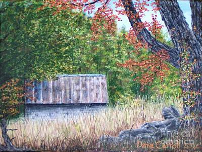 Painting - Barn In  Early Fall by Dana Carroll