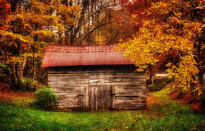 Photograph - Barn In Fall by Greg Mimbs