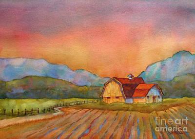 Farm Fields Painting - Barn In Golden Light by Wendy Westlake
