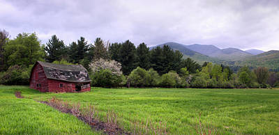 Barn In Keene Valley In Spring Art Print by Panoramic Images