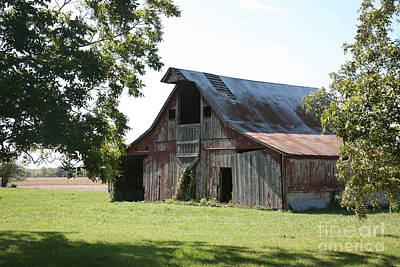 Photograph - Barn In Missouri by Kathy Cornett