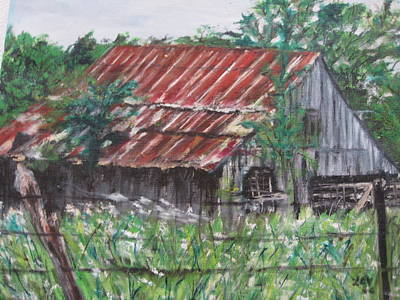 Barn In Montana Art Print