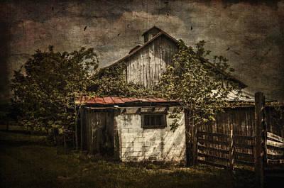 Barn In Morning Light Print by Kathy Jennings