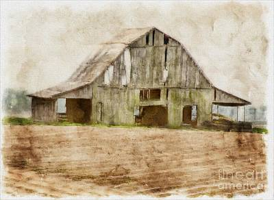 Photograph - Barn In Pastel Photoart by Debbie Portwood