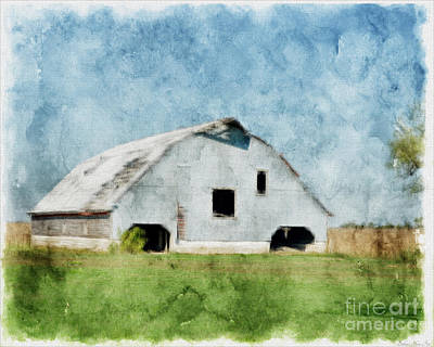 Photograph - Barn In Pastel Photoart II by Debbie Portwood