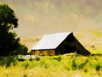 Barn In Pasture   Art Print