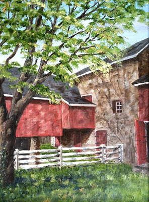 Painting - Barn In Shadows by Margie Perry