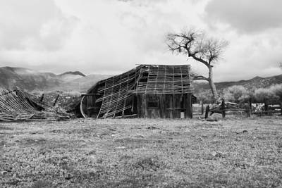 White Photograph - Barn In The Spring Sierras by Hugh Smith