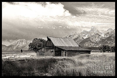 Barn In The Tetons Art Print by Robert Kleppin