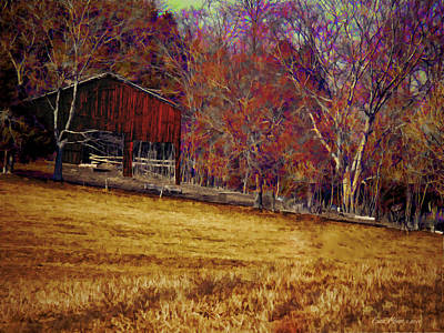 Photograph - Barn In The Woods-featured In Barns Big And Small Group by Ericamaxine Price