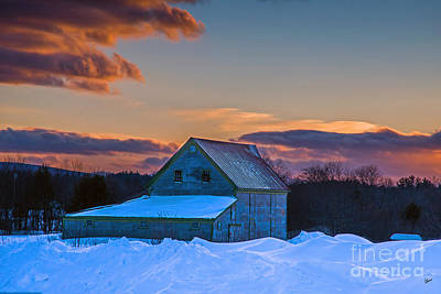 Photograph - Barn In Winter by Alana Ranney