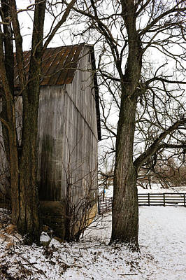 Photograph - Barn In Winter by Donald Fink