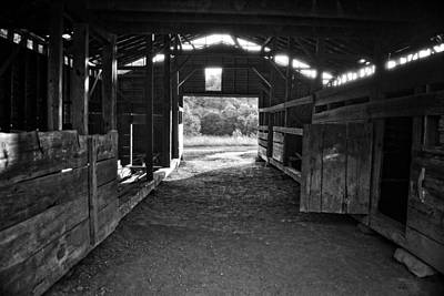 Photograph - Barn Interior by George Taylor