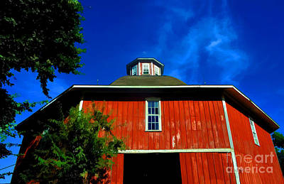 Photograph - Barn - Iowa - Classic Hexagonal  - Luther Fine Art by Luther Fine Art