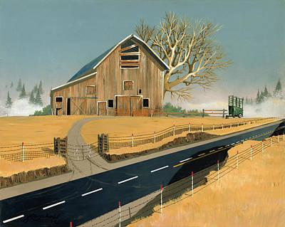 Painting - Barn by John Wyckoff