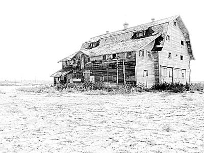 Wall Art - Photograph - Barn Lafayette-pencil Image by Mickey Murphy