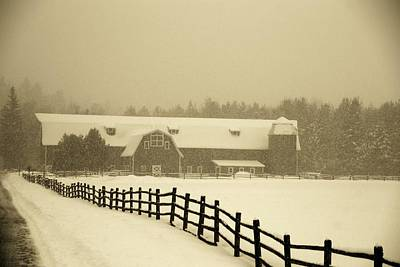 Photograph - Barn Lake Placid N Y by John Schneider