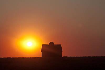 Barn Meets Sunset Art Print