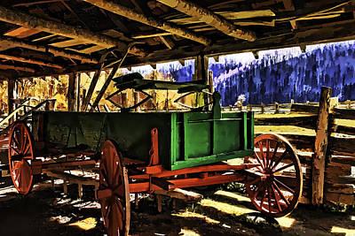 Art Print featuring the painting Barn by Muhie Kanawati