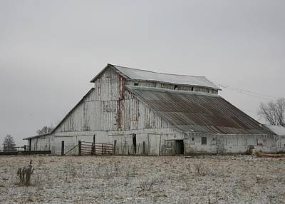Photograph - Barn Near Madison  Missouri by Kathy Cornett