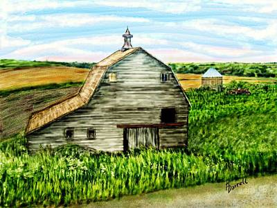 Barn Near Stanton Nebraska Art Print by Ric Darrell