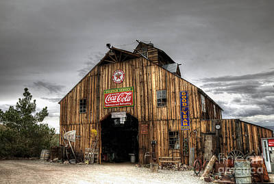 Photograph - Barn Of Antiques by Eddie Yerkish