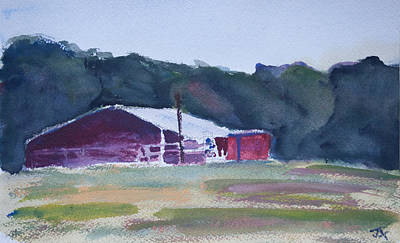 Painting - Barn Off Of 303 by Jim  Arnold