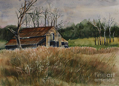 Tennessee Barn Painting - Barn Off The Road by Janet Felts