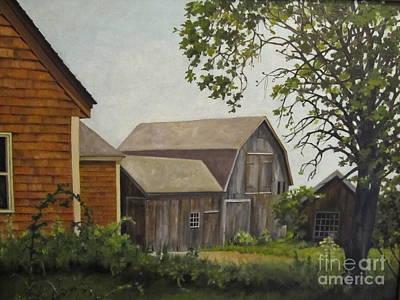 Painting - Barn On Ballamahack by Karen Olson