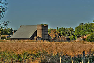 Photograph - Barn On Interstate 5 by William Havle