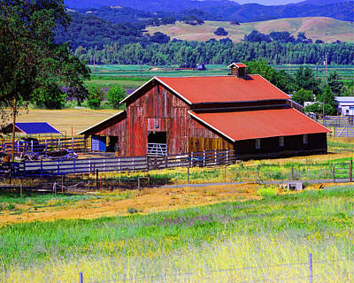 Photograph - Barn On Route To Fort Bragg by William Havle