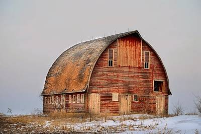 Barn On The Hill Art Print