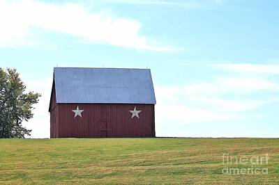 Barn On The Hill Art Print by Kenny Sampson