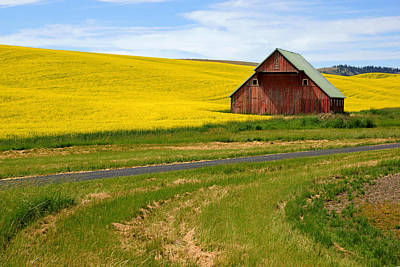 Photograph - Barn On The Palouse No.2 by Daniel Woodrum