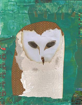 Mixed Media - Barn Owl by Brian Fuchs
