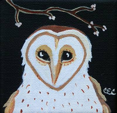 Painting - Barn Owl by Carolyn Cable
