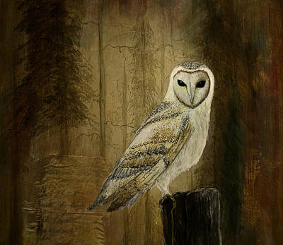 Painting - Barn Owl by Gray  Artus