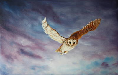 Painting - Barn Owl by Jean Walker